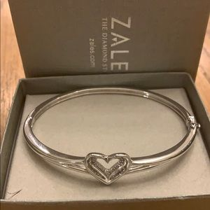 Zales Diamond Heart Bangle